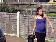 Pregnant neighbour washing car (non nude)