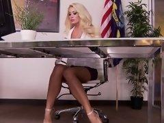 Big tits pornstar foot and cumshot