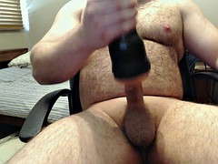 huge load of cum two days after border with the Fleshlight
