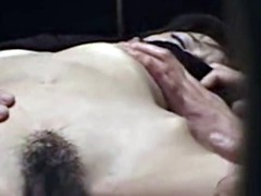 aika miura getting wet while being watched her hairy pussy