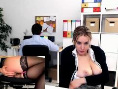 Big natural boobs blonde fucking the plummer