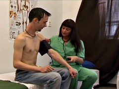 Boy medical examination for a beginner
