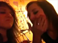 Amateur girls spitting