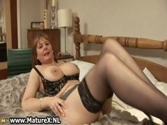 Excited mature wife in sexy underwear loves part1