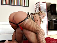 Phoenix Marie fucks a black guy with a toy