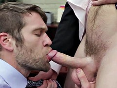 Office chunk sucks cock for promotion
