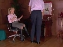 Office Mistress in Stockings Loved