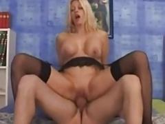 Clarissa Salvi reverse cowgirl action