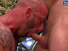 Hunky dude fucks dad signed by car
