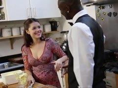 Noire, Queue, Nourriture, Interracial, Cuisine, Mère que j'aimerais baiser, Chevaucher, Suçant