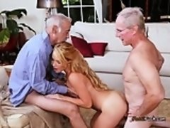 Gorgeous Teen Raylin Ann Gets Used By Old Men