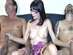 spex mature jerking two cocks at once