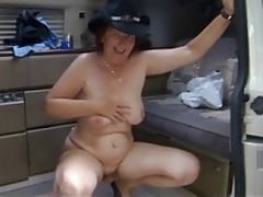 SilverStallion and SwissMature outdoors - Sexy Swiss Cowgirl