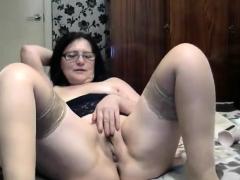 Mature stockings amateur hottie