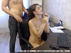 My Secretary Giving Me A Blowjob To Keep Her Job...