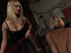 two nasty blondes having bdsm lesbian sex