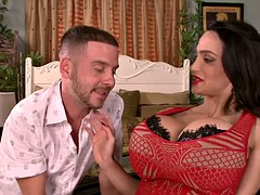 Sultry pornstar gets her huge tits fucked