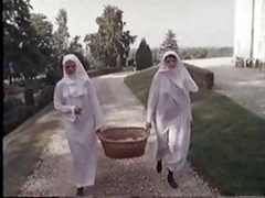 A pair of Shaggy Nuns  ..vintage