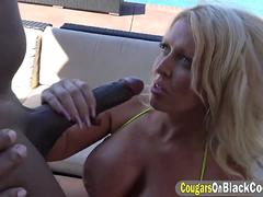 Blonde cougar Alura Jenson wants to suck and fuck with that massive BBC