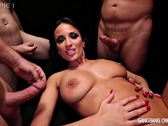 Sexy Anissa get dicked down in gangbang