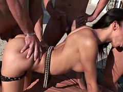 Lusty brunette Helena needs double penetration to feel satisfied