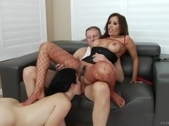 francesca le gets anally fucked, as yhivi sucks mark's cock atogm