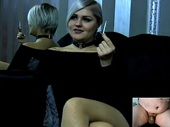 webcam small penis humiliation by sexy blonde model
