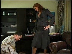 Aroused Milf Boss
