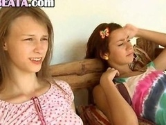Three russian girls jerking off