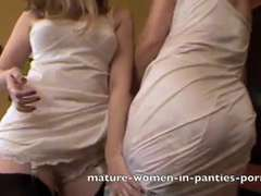 Sapphic Milfs in old fashion Underwear Part trio