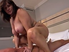 Taboo home story with granny and young boy