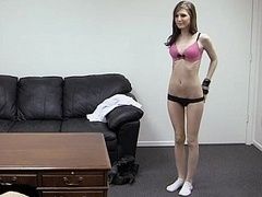 Gorgeous Kaydence in backroom casting