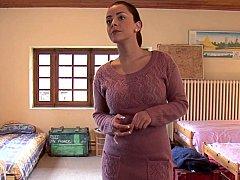 Schlafzimmer, Braunhaarige, Dildo, Europäisch, Gruppe, Lesbisch, Realität, Jungendliche (18+)
