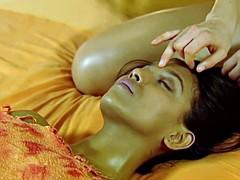 Brunette brune, Lesbienne, Massage