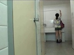 Groped and also fucked on school toilet