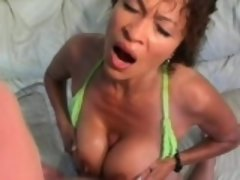 Stacked housewife gets her fiery pussy pounded hard by her hung lover