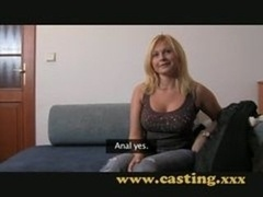 Casting - Plumpish Blonde Takes It In The Tooshie
