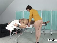 Unfaithful british milf lady sonia shows her monster knockers