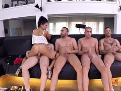 lewd spanish slut apolonia lapiedra getting gangbanged by four men