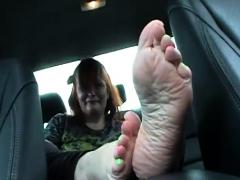Sexy Redhead Foot Fetish