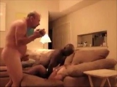 BLK BULL HAVING FUN WITH HIS COUPLE 2