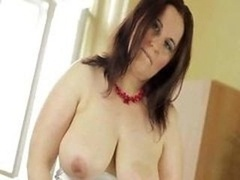 Bigtitted aged satisfying unshaved vag