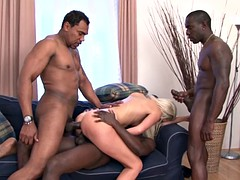 Mamada, Doble penetracion, Interracial