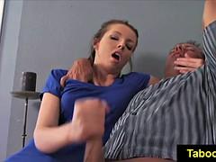 Sperma shot, Handbeurt, Masturbatie