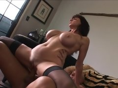 A horny granny that has large boobs is getting rammed extra hard