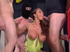 german busty Milf gangbang orgy