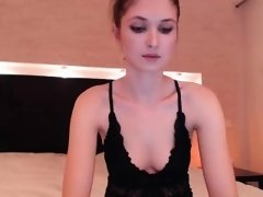 Canadian solo girl using sex toy inside redhead amateur