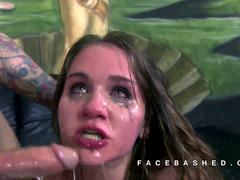 Cat Morris hipster teen face fucked