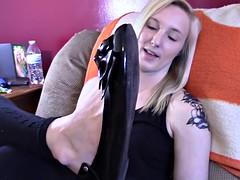 sexy blonde feet