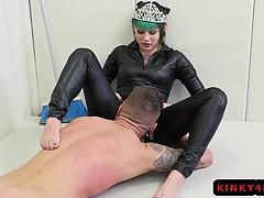 Hot pornstar femdom and cumshot